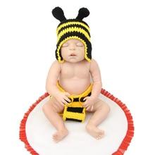 Full Silicone Vinyl Reborn Baby Doll Boy Sleeping Newborn Dolls 55CM /22Inch Free Magnet Pacifier Christmas Gift