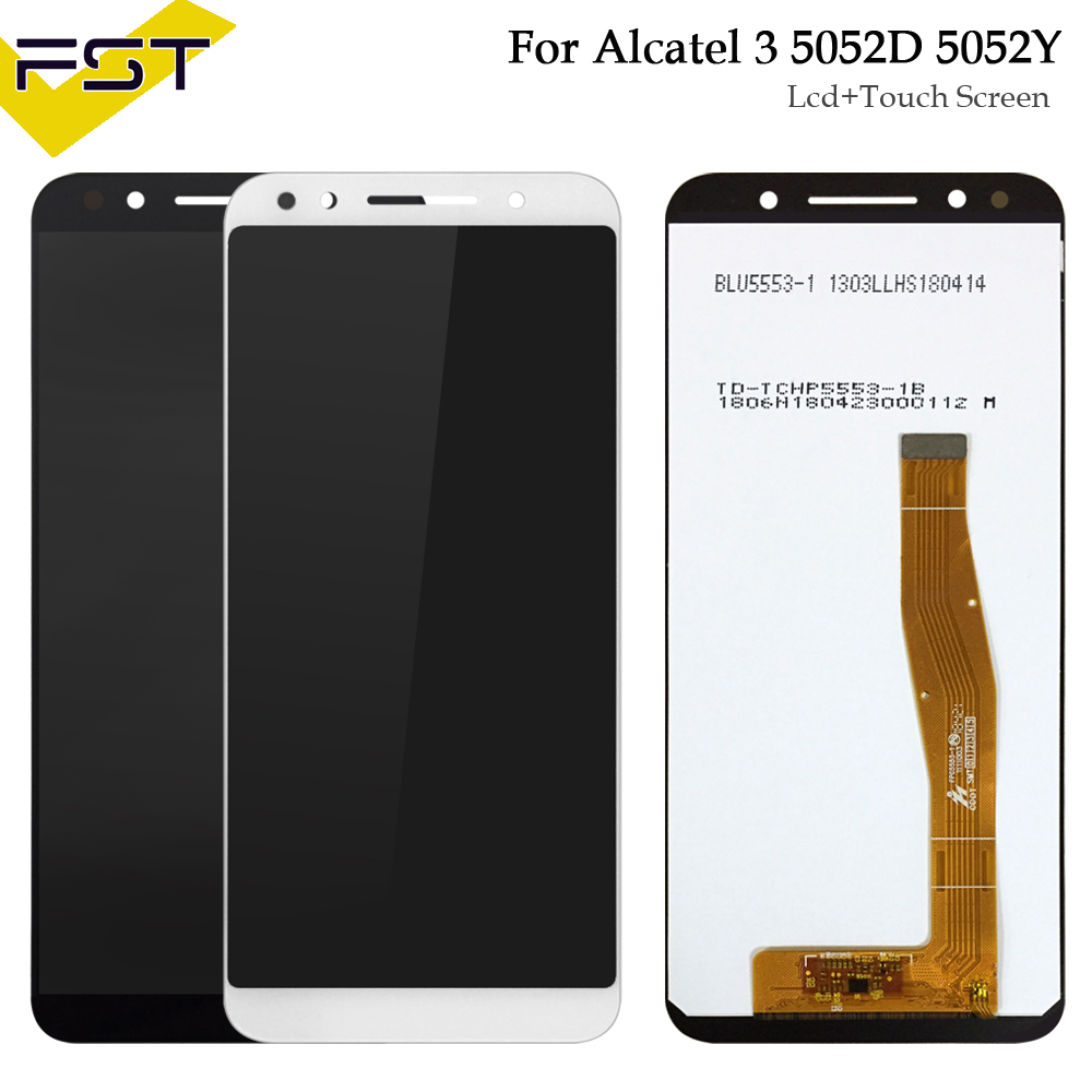 5.5 inch New Black/White LCD Display +Touch Screen Digitizer Assembly For Alcatel 3 5052 5052D 5052Y5.5 inch New Black/White LCD Display +Touch Screen Digitizer Assembly For Alcatel 3 5052 5052D 5052Y