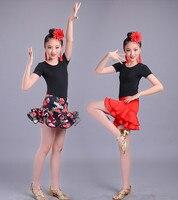 Новый стиль девушка Костюмы для латиноамериканских танцев танец румба Samba Костюмы Обувь для девочек Salsa Платья для женщин этап носить костю...
