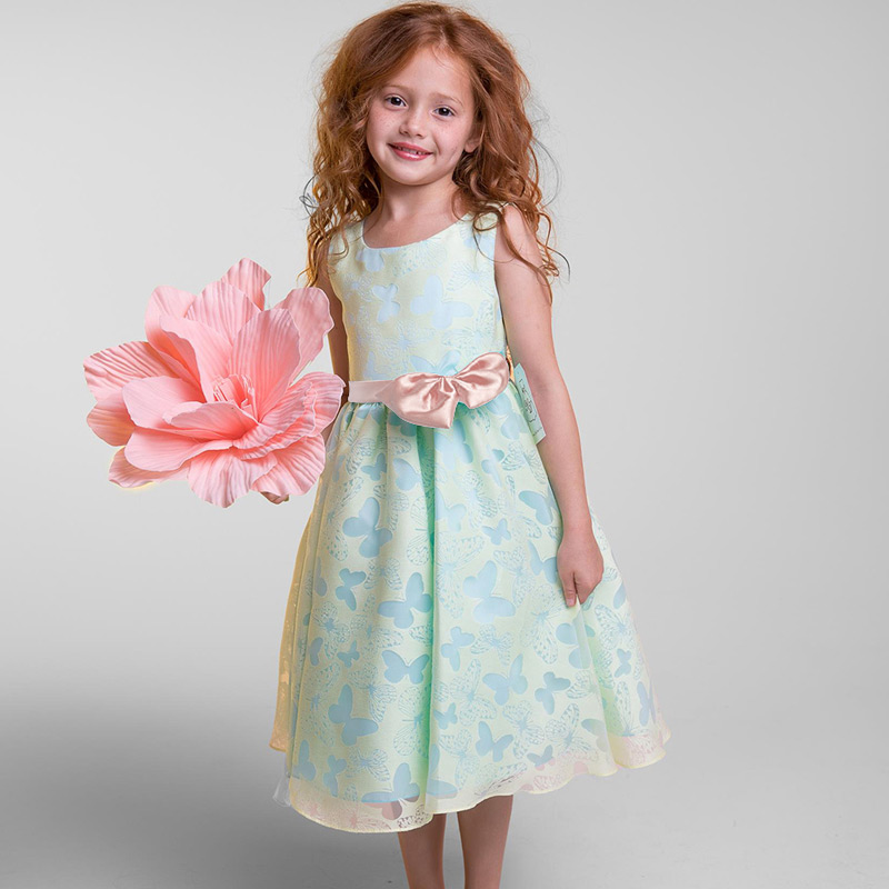 Flower Girl Wedding Dress Girl Party Wear Kids Clothes Children Costume Princess Events Prom Gown Little Baby Girl Ceremony Robe
