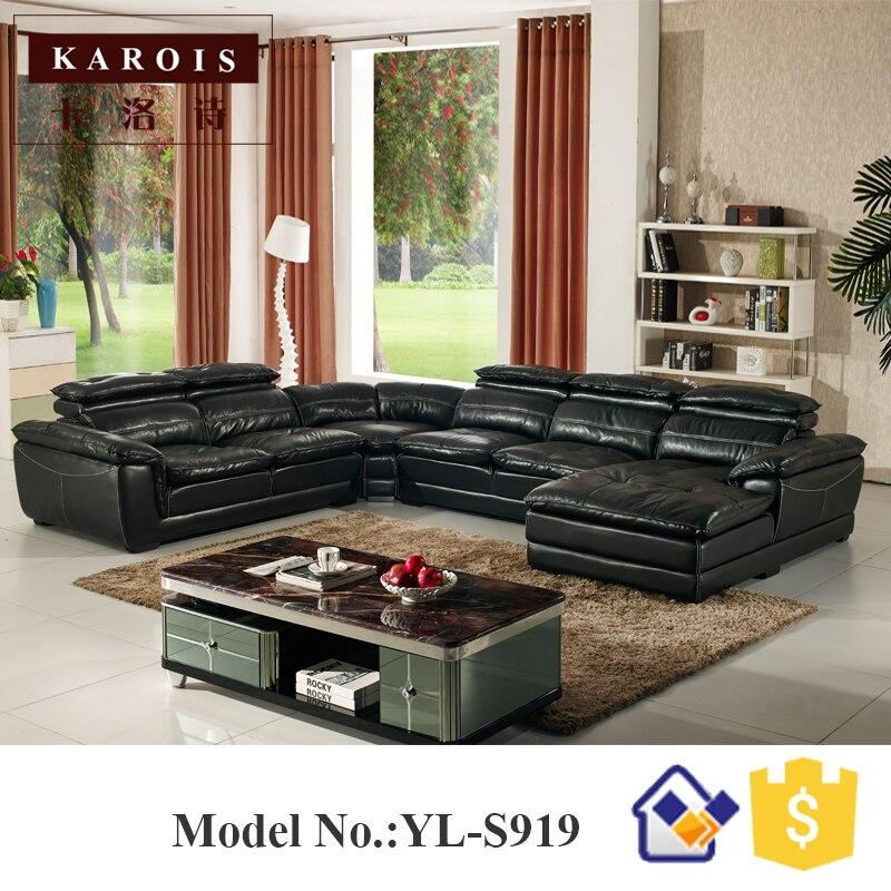 S919Factory groothandel U vorm Italië lederen sofa set voor ...