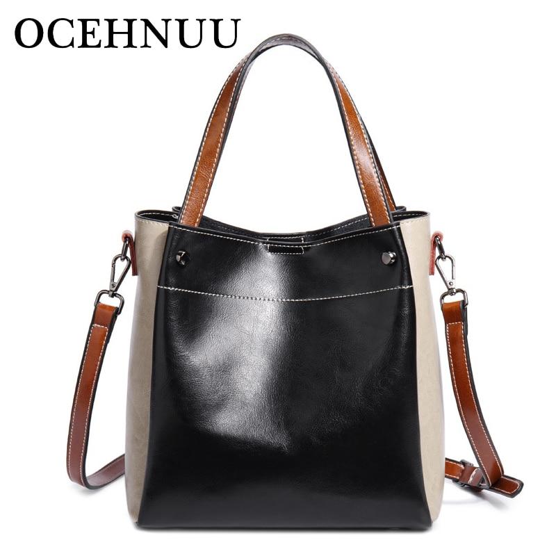 OCEHNUU Fashion Women's Handbags Genuine Leather Crossbody Bags Luxury Designer 2018 Ladies Hand Bags Bolsas Shoulder Bag Female
