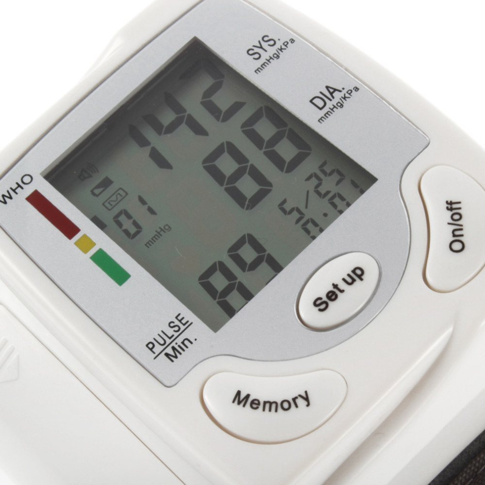 Household Automatic Wrist Blood Pressure Monitor Health Care Digital LCD Heart Beat Rate Pulse Meter Measure Best Selling 4