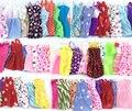 НК 16 Шт/Лот = 10 Шт. Смешать Виды Красивый Партия Одежды Мода платье + 6 Шт. Пластиковые Ожерелье Для Barbie Кукла Лучший Подарок Toys