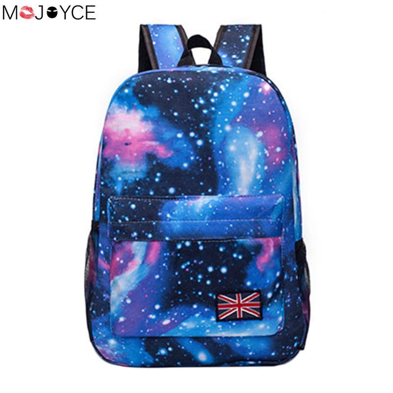 Fashion women backpack Unisex Stars Universe Space Printing Backpack School Book Backpacks British-flag Shoulder Bag 1pc hight quality hot fashion unisex emoji backpacks 3d printing bags drawstring backpack nov 10