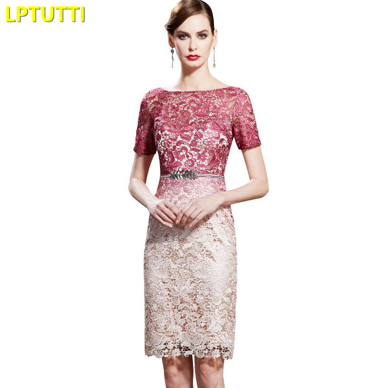 LPTUTTI Lace Gradient New Sexy Woman Social Festive Elegant Formal Prom Party Gowns Fancy Short Luxury Cocktail Dresses