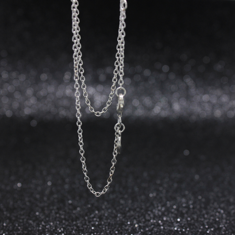 ROCKART Solid 925 Silver O Shape Chain Necklace 45cm 60cm 90s