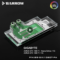 Barrow BS GIX1080T PA, LRC 2.0 5v 3pin Full Cover Graphics Card Water Cooling Block for Gigabyte AORUS GTX 1080ti Xtreme Edition
