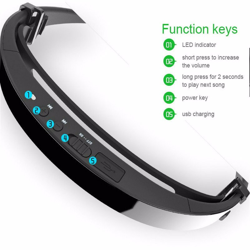 LonFine LF18 Smart Bluetooth 4.1 Bone Conduction Earpiece Headphone For IOS Android Bluetooth 4.1 LF-18 Stereo Bone Conduction Open Ear Wireless Sports Headset with NFC HIFI SoundCalling For IOS Android (4)