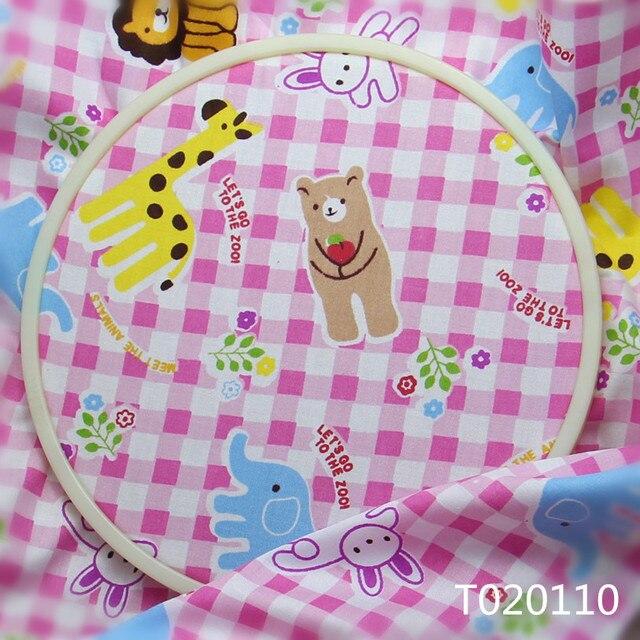 Rosa Tier Zoo Cartoon 100% Baumwolle Druck Stoffe für Vorhang Nähen ...