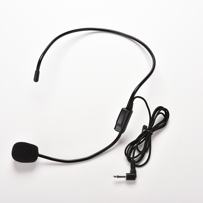 3.5mm Wired Miniphone Headset Studio Conference Guide Speech Speaker Stand Miniphone For Voice Amplifier Portable Mics