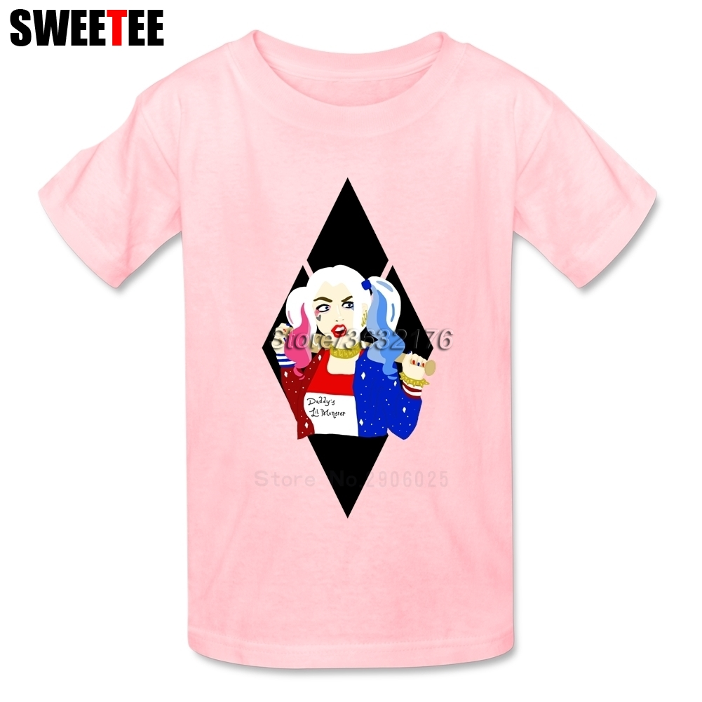 Suicide Squad Boy Girl T Shirt Neck Kid Tshirt Children Baby Infant Pure 2018 Harley Cotton Round Tops Quinn T-shirt For Toddler