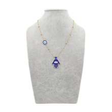Go2boho Evil Eye Necklace Hamsa Hand Necklace Gold Chain Women Collares 2019 MIYUKI Eye Jewelry Insta Fashion Stainless Steel
