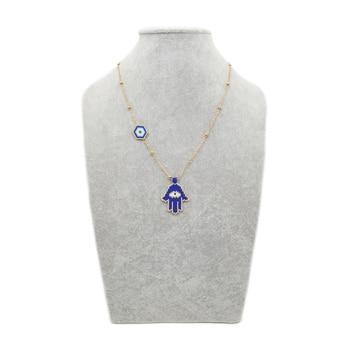 Go2boho mauvais oeil collier Hamsa main collier or cha ne femmes Collares 2019 MIYUKI oeil bijoux