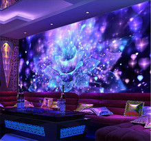 Personalized 3D Stereo Wallpapers Cool Nightclubs Flower Bar TV Living Room Background papel de parede