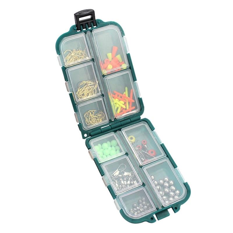 157pcs/set Rock Fishing Accessories Kit PP ABS Fishhook Lead Sinker Swivel Connector Space Bean Set