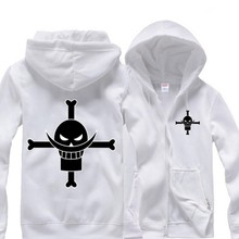 Anime One Piece Edward Newgate figure hoodies sportswear zipper Sweatshirt cotton add plush winter warm cosplay Costume 2015