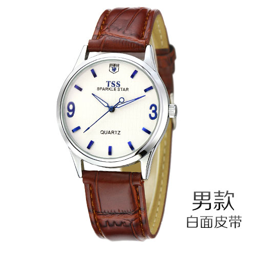 Fashion Men Watch Tss Casual Watches Men Top Brand Luxury Waterproof Leather Men Wristwatches Quartz Watch