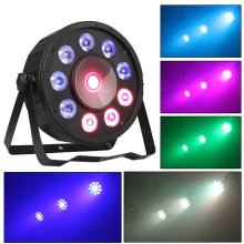 Led Par Dyeing Light Flat Cob Rgb 3in1 Led Cob Dmx512 for Stage Lighting Professional for Dj Wedding Parties Christmas new professional indoor 54 x 3w rgb 3in1 flat led par can lights can 110v 240v energy saving led par light tiptop 20xlot