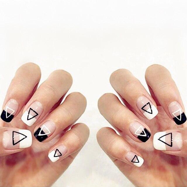 Koreanischen Stil Einfache Reine Farbe Mit Dreieck Muster
