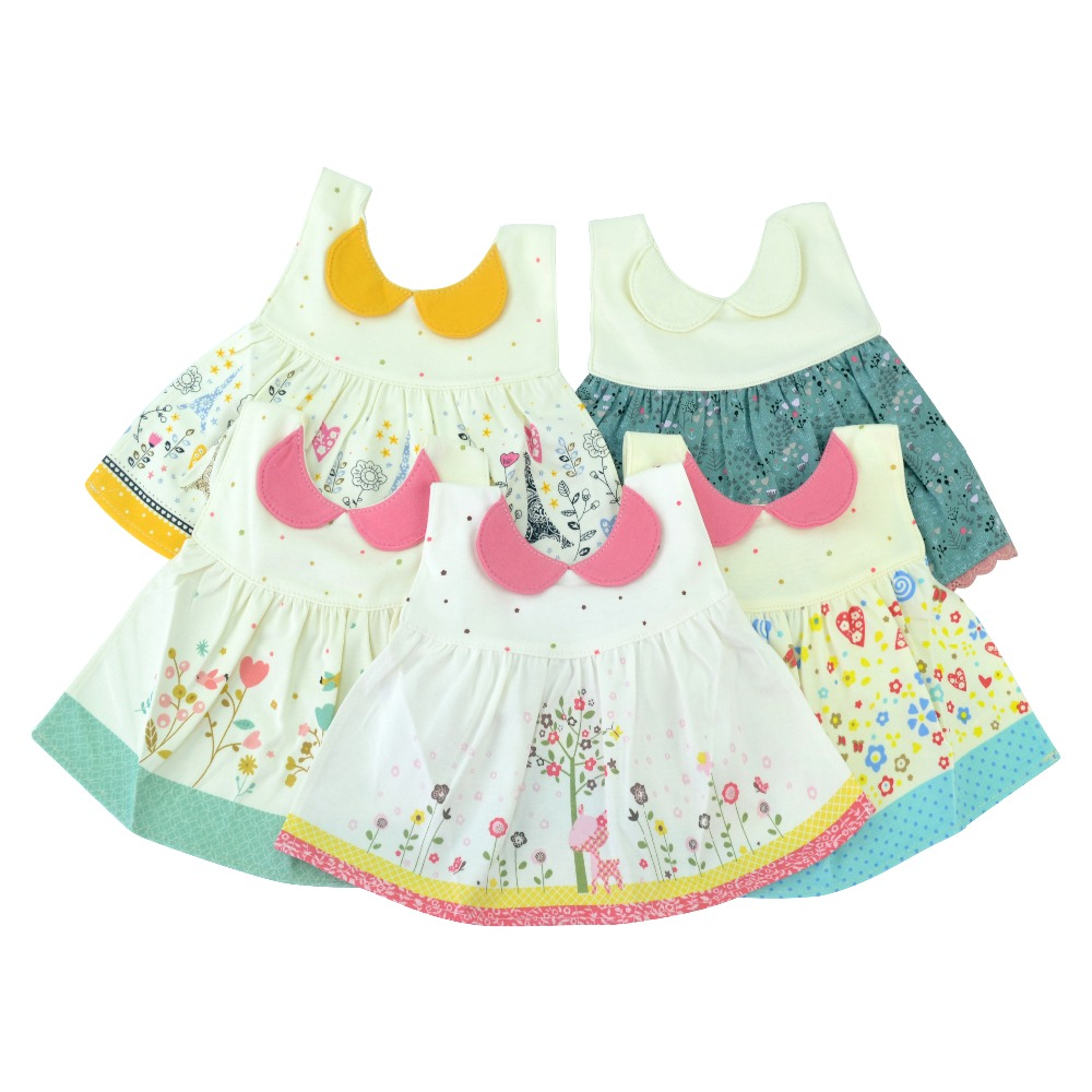 Lion Bear 6-36 Months Cute Skirt Type Baby Bib Waterproof And Easy To Clean Saliva Towel Burp Cloth Infant Apron For Baby Girls