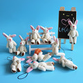 Оптовая продажа 20 шт./лот 3 inch Мини Совместное Кролик Плюшевые Игрушки Kawaii Чучело Мягкие игрушки для Букеты Небольшой Кулон