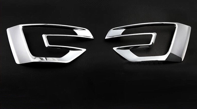 2016- 2018 For Ford Explorer Front Fog Light Lamp Cover Decorative Trim ABS 2pcs