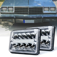 Marloo 4X6 DOT LED headlight With DRL Parking Light Sealed Hi/Lo Beam For Freightliner Classic FLB Truck Western Star