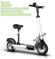 10 Inch Two Wheel Folding Electric Scooter Bicycle Hoverboard Scooters With 36v15Ah Endurance Mileage 45KM Battery