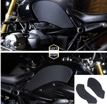 Black Gas Tank Traction Pad Side Fuel Grip Decals Protector For BMW R Nine T R9T Anti Slip Sticker