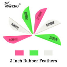 60pcs Archery Arrow Feathers 2inch Rubber Fletches Drop-shape Feather For Compound/Recurve Bow Hunting Shooting Accessories 50pcs archery 2inch rubber feather arrow feathers drop shape fletches for outdoor bow and arrows hunting shooting accessories