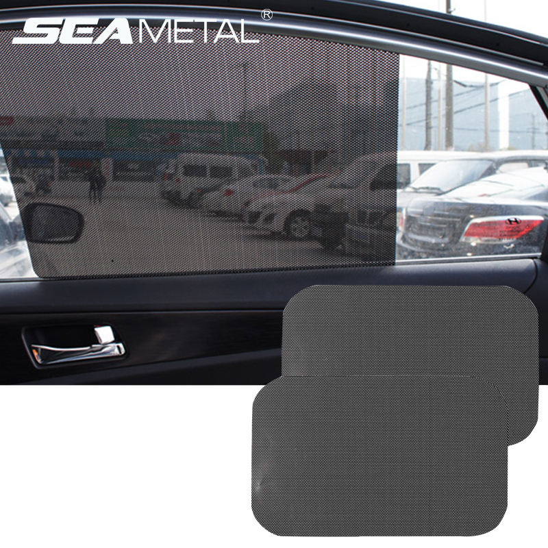 Image 2 - 2pcs Car Sunshades Window Cover PVC UV Protector Car Stickers windshield Sun Shade Shield Auto window Covers curtain Accessories-in Side Window Sunshades from Automobiles & Motorcycles