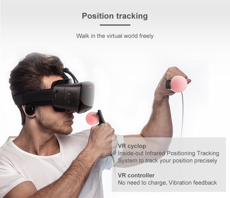 ANTVR 17 New Virtual Reality Glasses Headset for PC Virtual pc Glasses Binocular 110 FOV 2160*10P VR box Immersive 3D VR 7