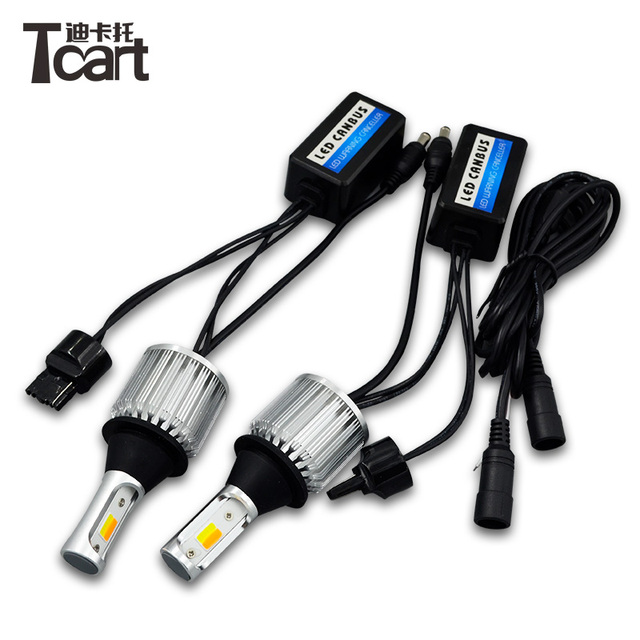 Tcart for Subaru outback T20 7440 Car DRL Daytime Running Lights Turn Signals Auto Led Bulbs