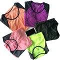 Las mujeres de secado rápido del sudor yoga t shirt gimnasio correr deportes camiseta, Ejercicios de gimnasio Jogging Camisetas Mujer Camisetas de Manga Corta de Ropa Deportiva