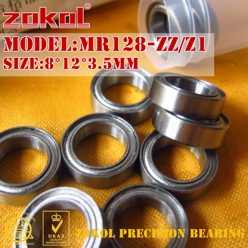 ZOKOL MR128 ZZ Z1 Bearing MR128ZZ Mr128 Zz Miniature MR128.OPEN.2.5mm Deep Groove Ball Bearing 8*12*3.5mm 8*12*2.5mm