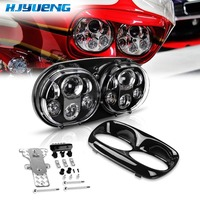 HJYUENG for 98 Road glide LED CVO Road Harley accessories headlight High/Low Double Headlight For Harley Road Glide