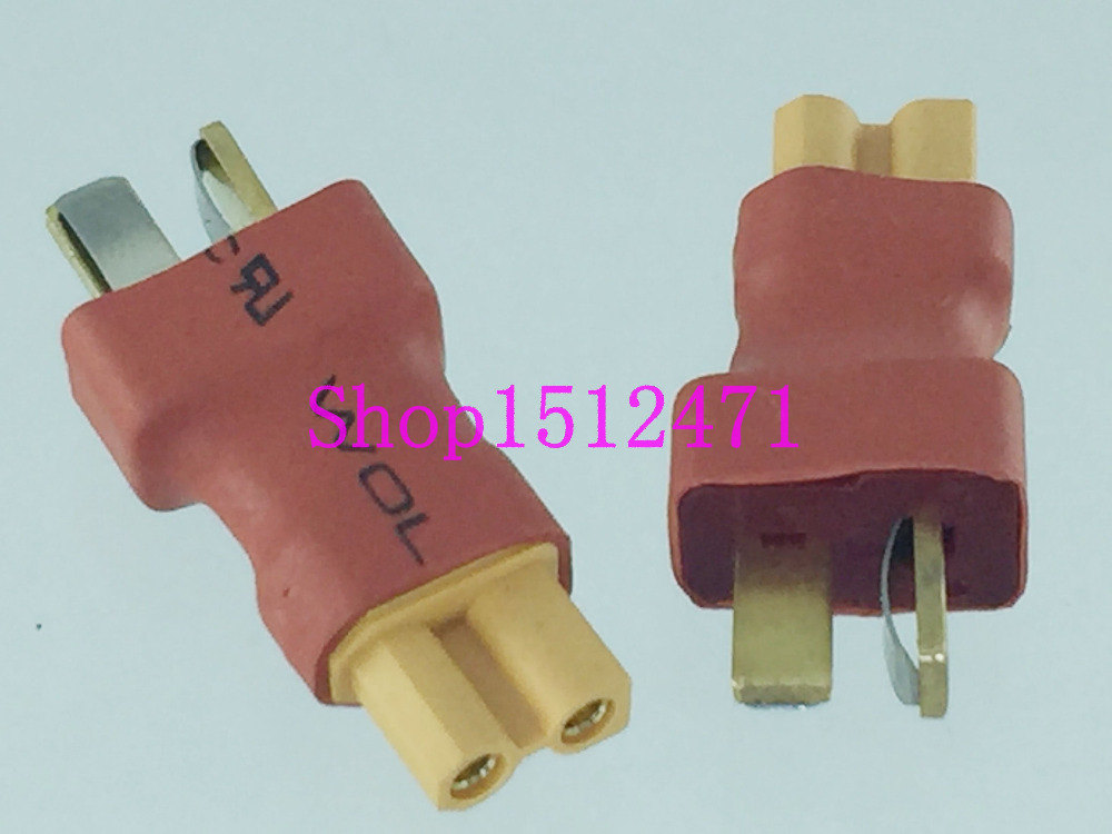 1PCE T-Plug Deans Male To XT30 XT-30 Female No Wire Adapter Connector For RC