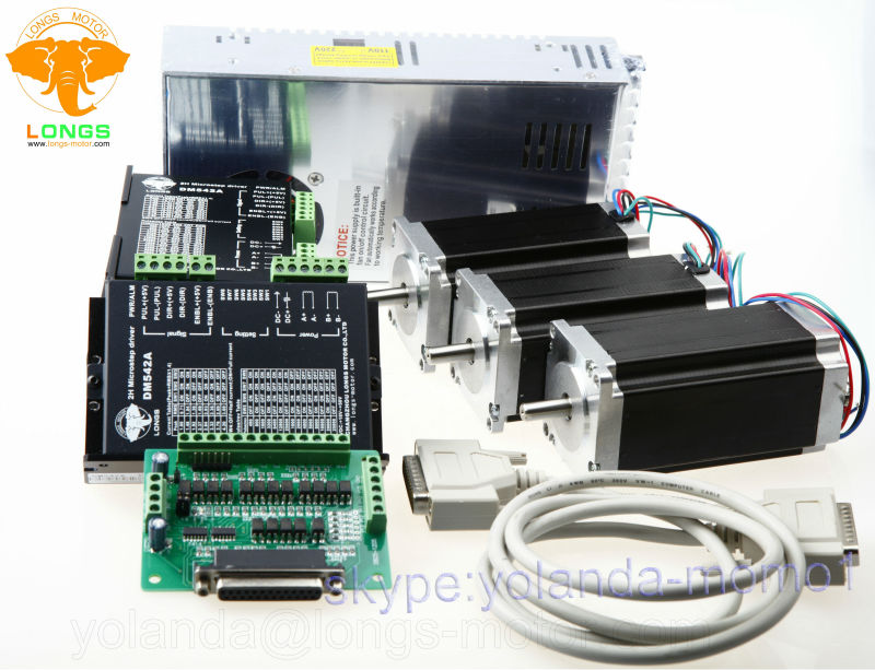 【Free Ship to US】3Axis Nema 23 Stepper Motor 425oz-in /&Driver CNC Router