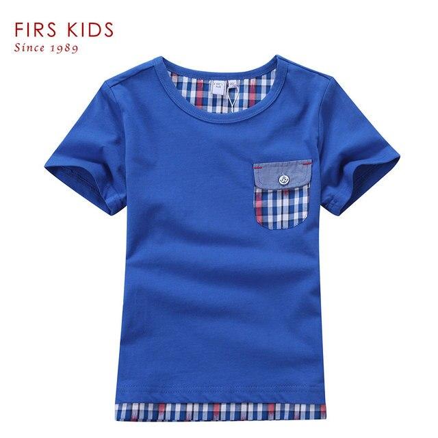 FIRS KIDS Summer children kids boys t shirt striped 2 colors 4-14Years children boys clothing summer boys tees t-shirt for boys
