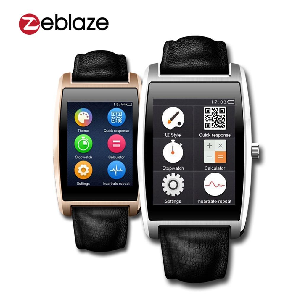 Watch with wrist hrm - Zeblaze Cosmo Smart Watch 1 61 Ips Mtk2502c Stainless Steel Bt4 0 Waterproof Smartwatch Wristwatch
