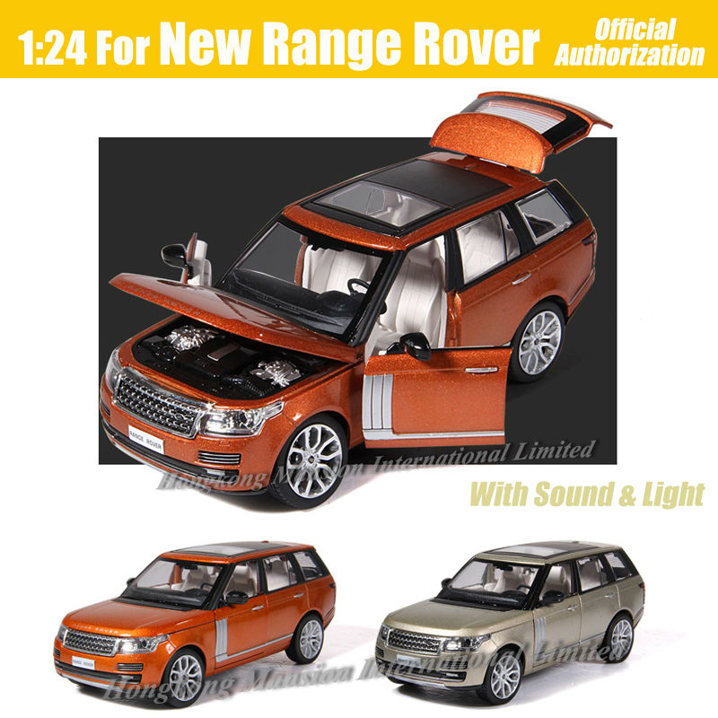 1:24 Land Rover Range Rover Diecast Model Car Toy Collection Sound/&Light Black