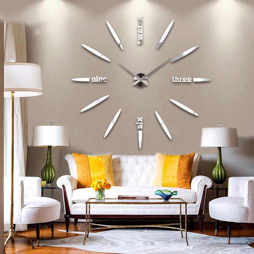 ベストセラー新壁時計アクリル金属ミラースーパー大パーソナライズ壁時計ホット DIY 送料無料 130 センチ × 130 センチ