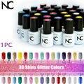 Glitter Color Fashion Neon Nail Gel Polish Soak Off UV Colorful Nail Colors Art For Gel Nail Polish Permanent  Gel Nail Enamel