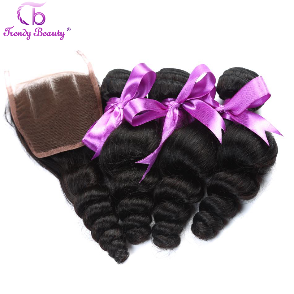 Trendy Beauty Hair Malaysia Loose Wave Human Hair 3 Pcs Non Remy Hair Weave Bundles with