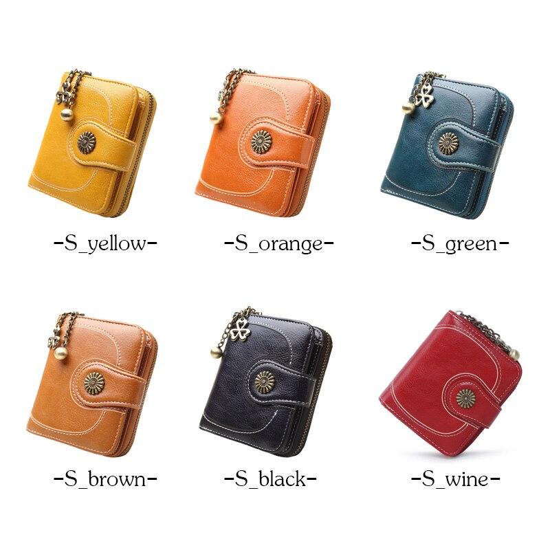 2018 New Vintage Button Phone Purses Women Wallets Female Purse Leather Brand Retro Ladies Long Zipper Woman Wallet Card Clutch 3