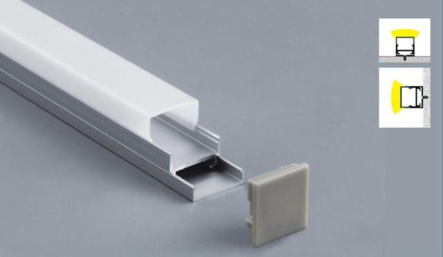 LED bantlar için alüminyum profiller: uygulama özellikleri