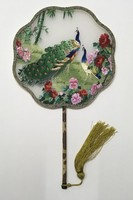 Handmade Mulberry Silk Hand Fans Flowers Double Embroidered Chinese Gift Fan High End Bamboo Handle Decorative Fan Wedding