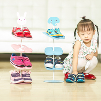 BF040 Home Furniture Cute Shoe Rack Kid Children Cartoon Animal Design Shoe Rack Holder Stand Storage