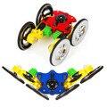 Alta qaulity l36 2.4g giroscópio de flash de luz do carro dublê carro de controle remoto 4wd carro robô rc toys para crianças